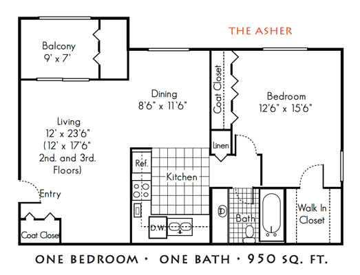 Gables of Troy: Troy MI Apartments for Rent | Kaftan - gables-of-troy-floorplan-3_asher