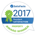 SatisFacts 2017 Resident Satisfaction Superior Award Winner